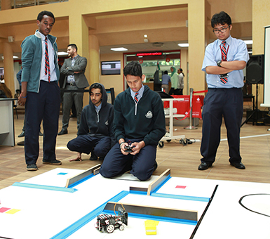 CUD hosts inaugural high school robotics competition