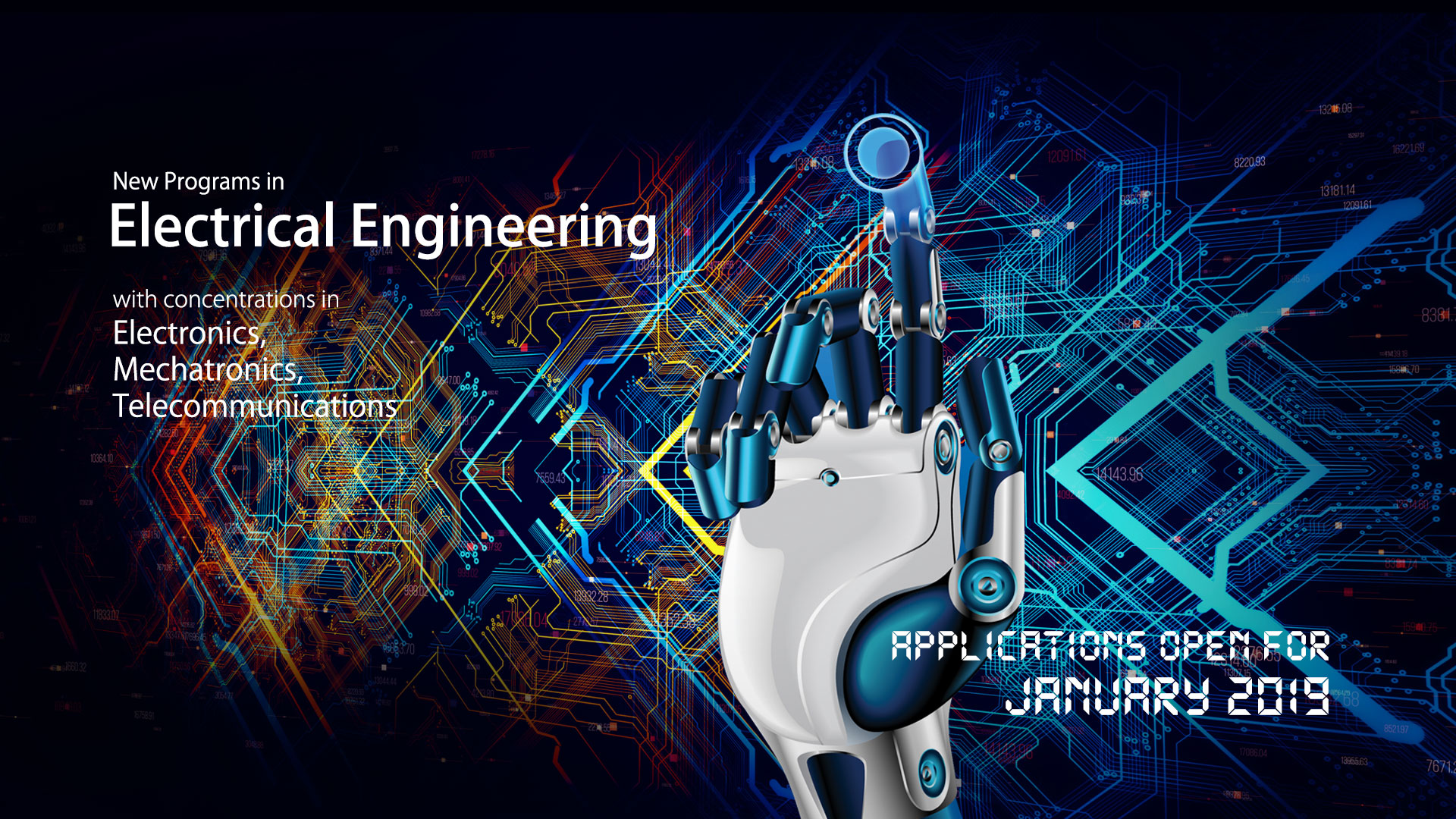 Electrical Engineering - Applications Open for January 2019
