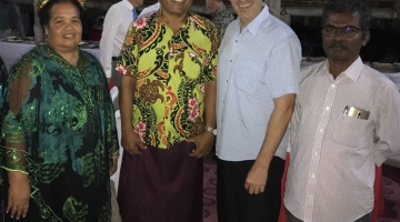 Dr. Franco with the President and First Lady of Kiribati