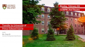 UPEI invites CUD students to learn about Canadian Education Options