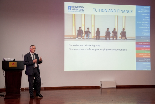 Students Hear from UOIT Faculty on Canadian-based Study